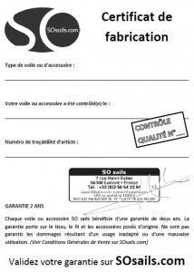 Certificat de Fabrication
